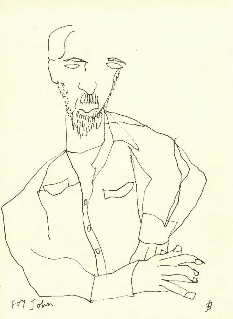 Caricture of John Hart